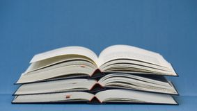 Three open books Royalty Free Stock Photography