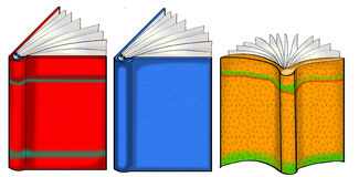 Three open books illustration Royalty Free Stock Image