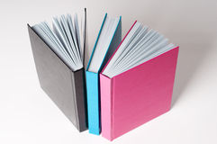 Three open books for reading Royalty Free Stock Photo
