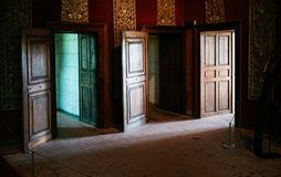 Free Three Open Doors In Castle Chateau De Chambord Royalty Free Stock Images - 107938989