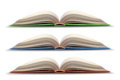 Three opened book Stock Photos