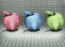 Three Optical Apples Royalty Free Stock Images