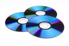 Three optical disc Royalty Free Stock Photo