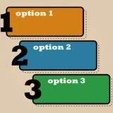 Three options Royalty Free Stock Photos