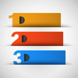 Three options for text vector Royalty Free Stock Photos