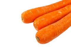Three orange Carrot vegetable Stock Photos