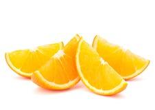 Three orange fruit segments or cantles Stock Image