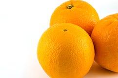 Three orange isolated on a white background. Three orange isolated on a white background Royalty Free Stock Images