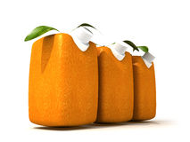Three orange juices Stock Photography