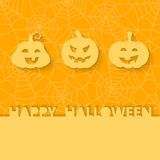 Three orange pumpkins on the background of the web Royalty Free Stock Photos