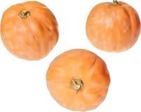 Three orange pumpkins  on white. Illustration with orange pumpkins  on white background Stock Photos