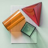Three Orange, Red and Green Containers stock photography