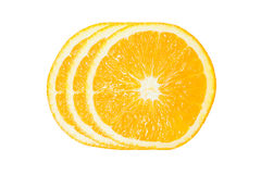 Three of Orange Slice Stock Photography