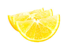 Three orange slices Stock Image