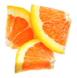 Three Orange Slices, Isolated On White Royalty Free Stock Photos