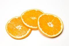 Three Orange Slices Royalty Free Stock Image