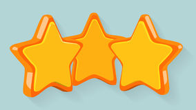 Three orange stars Stock Photo