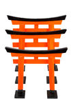 Three of orange Torii on white background, isolated Royalty Free Stock Photo