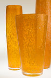Three orange vases Royalty Free Stock Images