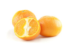 Three oranges. On the white background Stock Images
