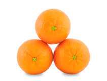 Three oranges. Royalty Free Stock Photos