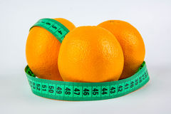Three oranges and meter Stock Photography