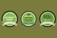 Three  organic badges Royalty Free Stock Photos