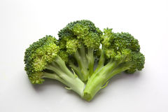 Three Organic Brocoli Florets Royalty Free Stock Photography