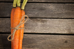 Three Organic Carrots Stock Photos