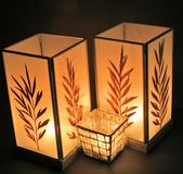 Three Oriental Candles Royalty Free Stock Photo