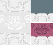 Three ornamental borders for design Royalty Free Stock Photo