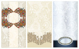 Three ornamental floral pattern Stock Image