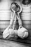 Keychain with monkey fist stock photography
