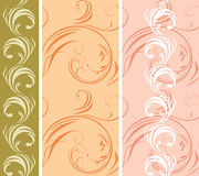 Three ornamental patterns for borders Royalty Free Stock Image