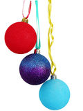 Three ornaments for a holiday. Three beautiful multi-coloured New Year's ornaments for a holiday Stock Image