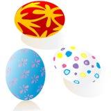 Three ornate Eastern eggs Stock Photo