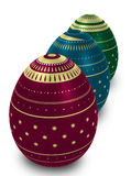 Three ornate eggs Royalty Free Stock Image