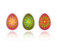 Three ornate eggs Royalty Free Stock Photo