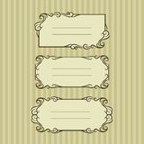 Three ornate frame for your content Royalty Free Stock Photography
