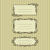Three ornate frame for your content Stock Photography