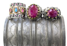 Three ottoman rings. Stock Photo