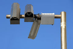 Three outside security cameras Royalty Free Stock Photography