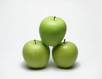 Three overlapping together Apple Royalty Free Stock Photos