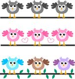 Three owl headers. Three different owl headers for websites Stock Image