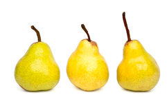 Three Packham pears Royalty Free Stock Photos