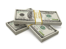 Three packs of one hundred dollar bill Stock Photography