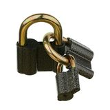 Three padlocks Royalty Free Stock Photos