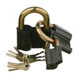 Three padlocks Stock Image