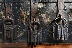 Three Padlocks Stock Photos