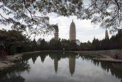 the Three-Pagoda's Stock Image
